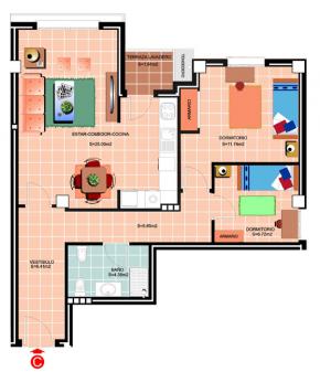 Plano <p>Apartamento Tipo C-F</p> <h3><strong>AGOTADO PARA EL CURSO 2017-18.</strong></h3>