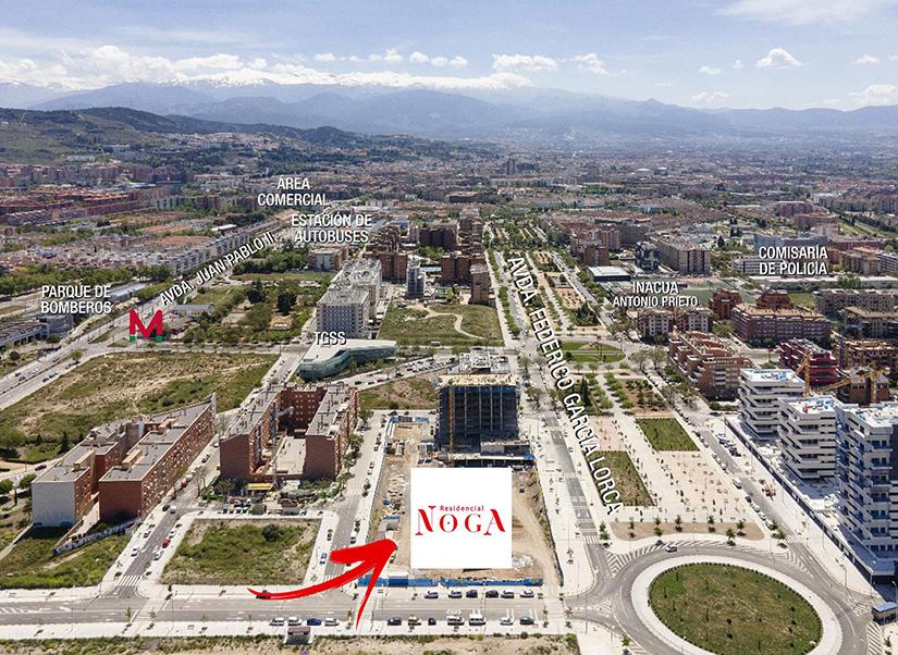 Residencial Noga. Imagen aérea Abril 2021